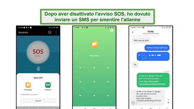 Allarme SOS Qustodio
