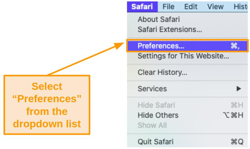 Screenshot of System Preferences under the Apple menu.