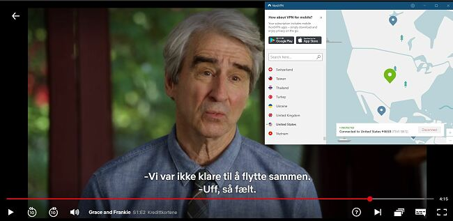 NordVPN samarbeider med Netflix USA