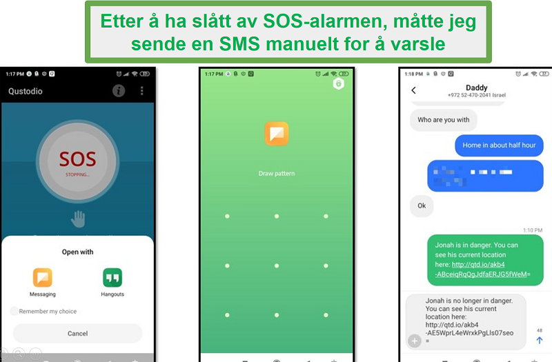 Qustodio SOS-alarm