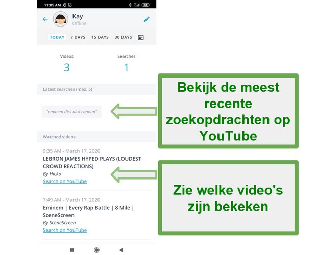 Qustodio Youtube-monitoring