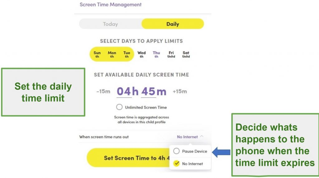 Net Nanny Screen Time Management