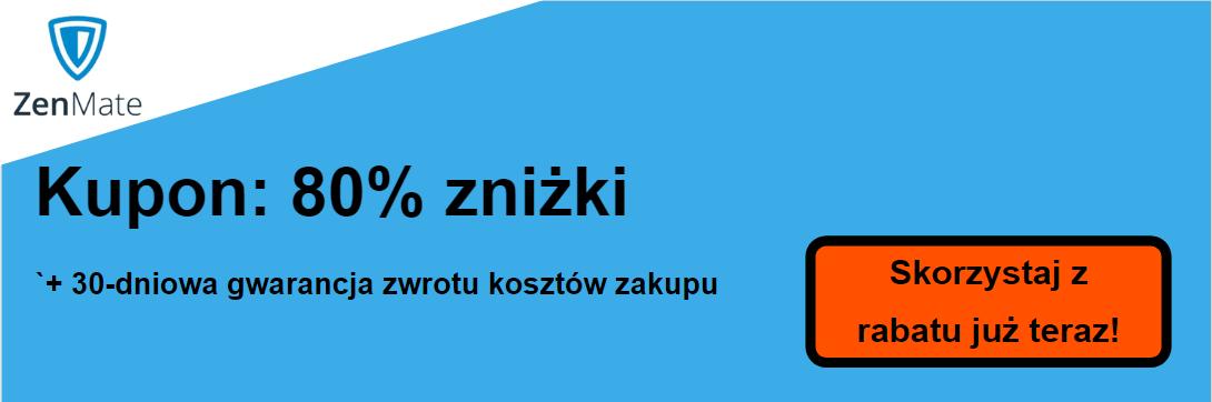 Kupon ZenMate - 80% zniżki