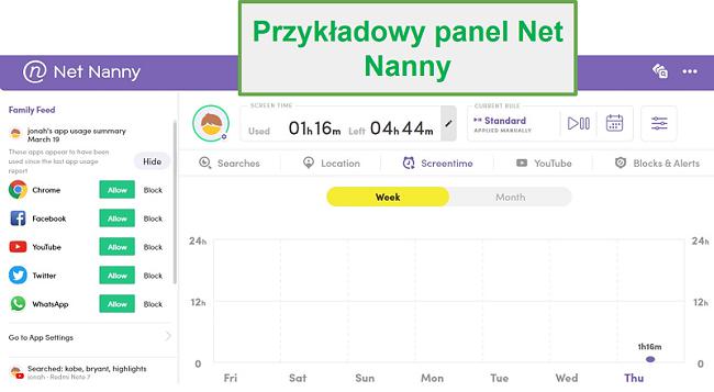 Pulpit nawigacyjny Net Nanny