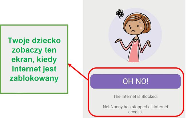 Net Nanny blokuje internet