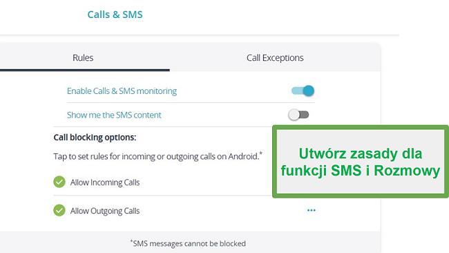 Monitorowanie połączeń i SMS-ów Qustodio