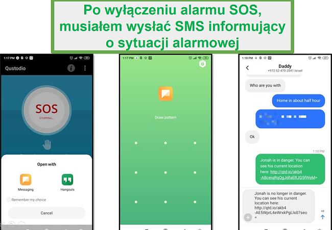 Alarm Qustodio SOS