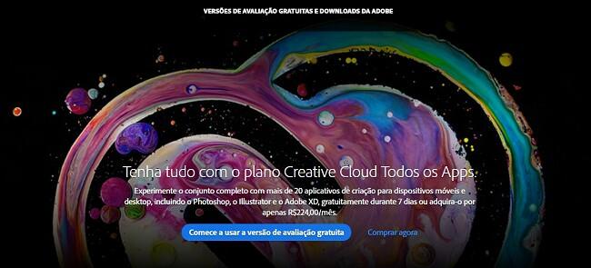 Como obter uma conta gratuita da Creative Cloud