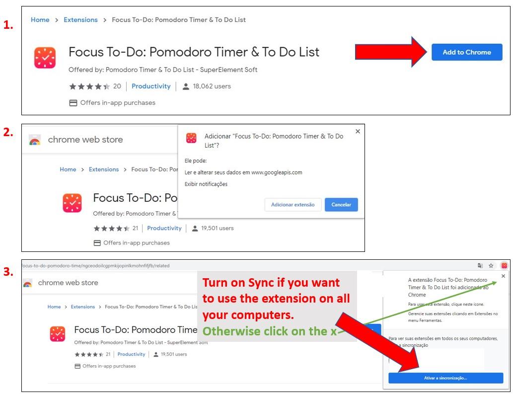 Etapas para adicionar extensões ao Google Chrome