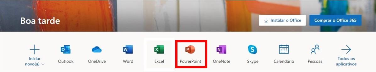 Baseado no navegador do PowerPoint