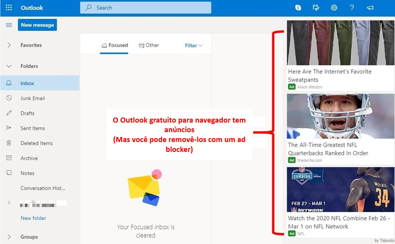 Anúncios no Outlook