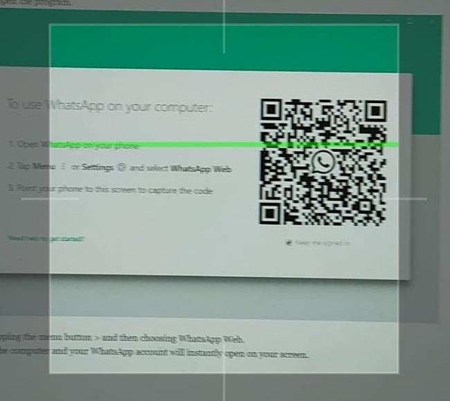 QR-kód a WhatsApp Web-hez