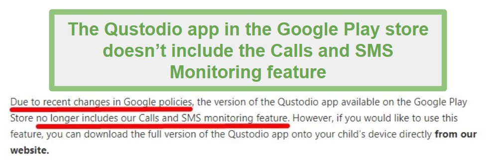 Qustodio Google Play policy