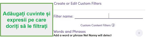 Filtru personalizat Net Nanny