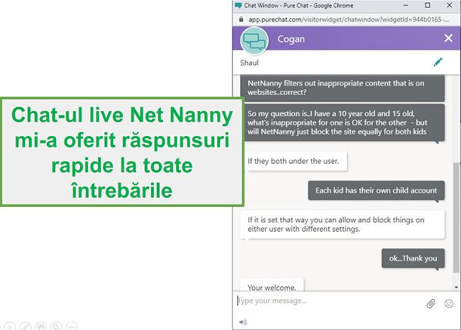 Serviciu clienți Net Nanny