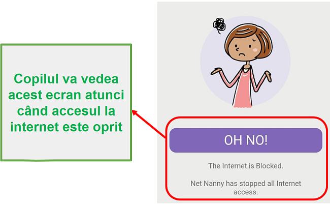 Net Nanny blochează internetul