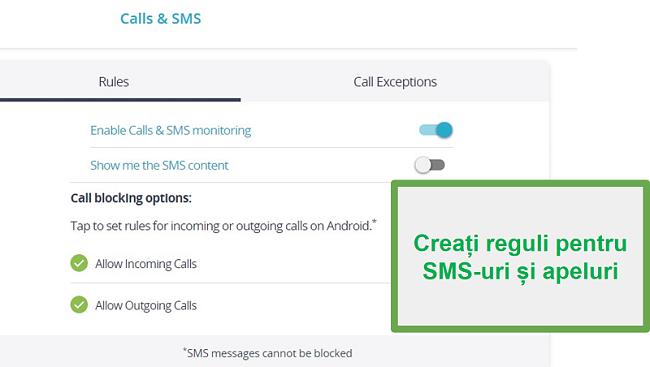 Monitorizați apelurile și SMS-urile Qustodio
