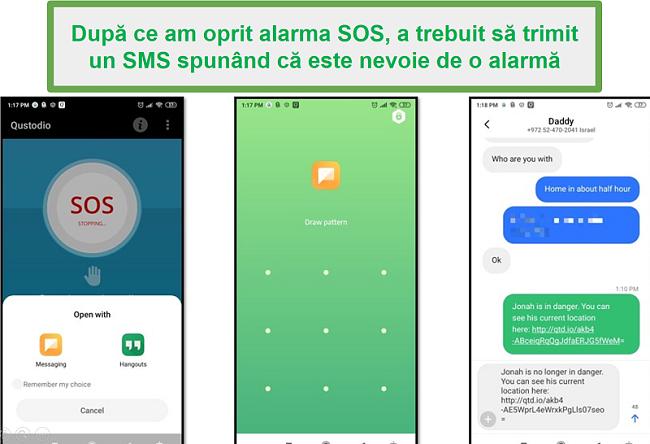 Alarmă Qustodio SOS