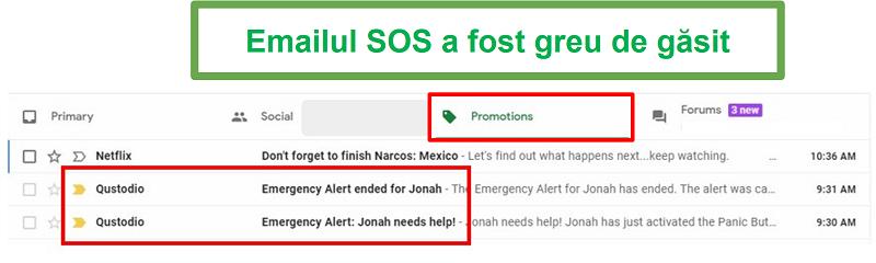 Trimiteți un e-mail lui Qustodio SOS