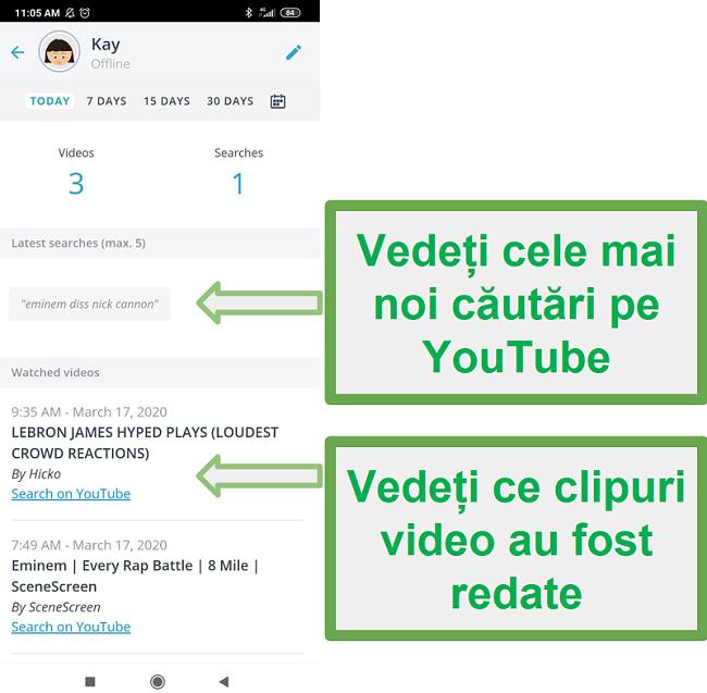 Monitorizarea Youtube Qustodio