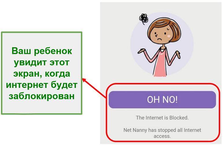 Net Nanny блокирует интернет