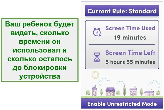 Net Nanny управляет экранным временем