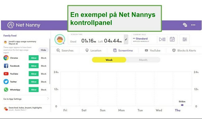 Net Nanny Apps beheren