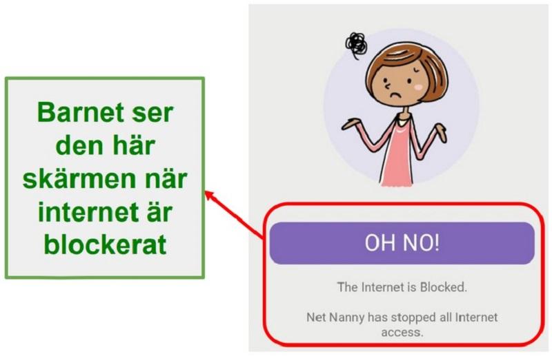 Net Nanny blockerar internet