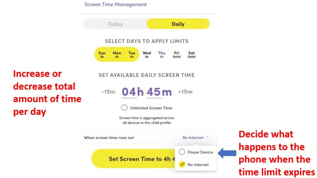 Set Time Restrictions with NetNanny