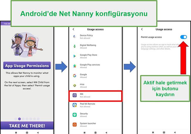 Android için Aile Koruma Şifresi