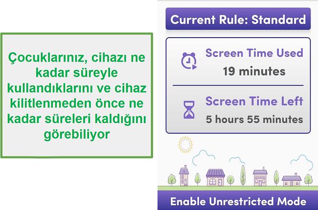 Aile Koruma Şifresi ekran süresini yönetir