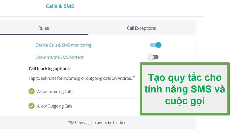 Qustodio aramaları ve SMS izleme