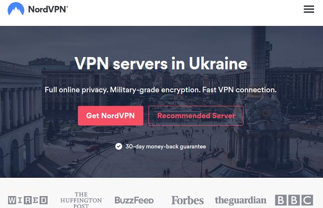 Graphic of NordVPN's servers in Ukraine