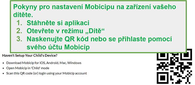 Mobicip treska QR