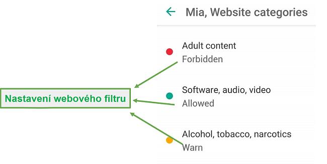Safe Kids přizpůsobuje webové filtry