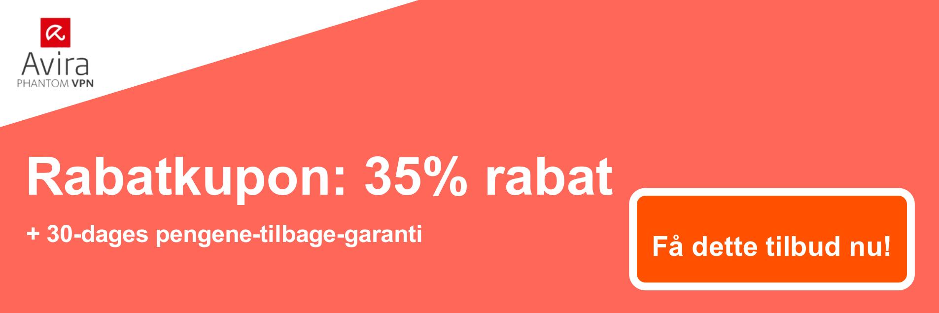 AviraVPN-kuponbanner - 35% rabat