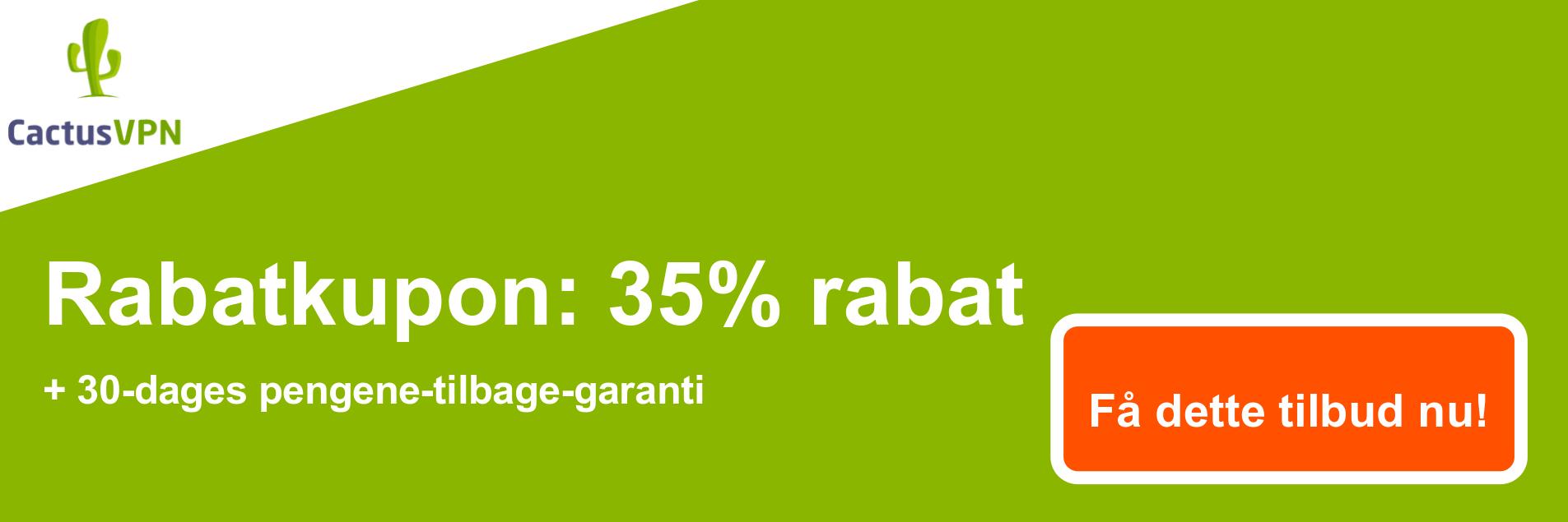 CactusVPN-kuponbanner - 38% rabat