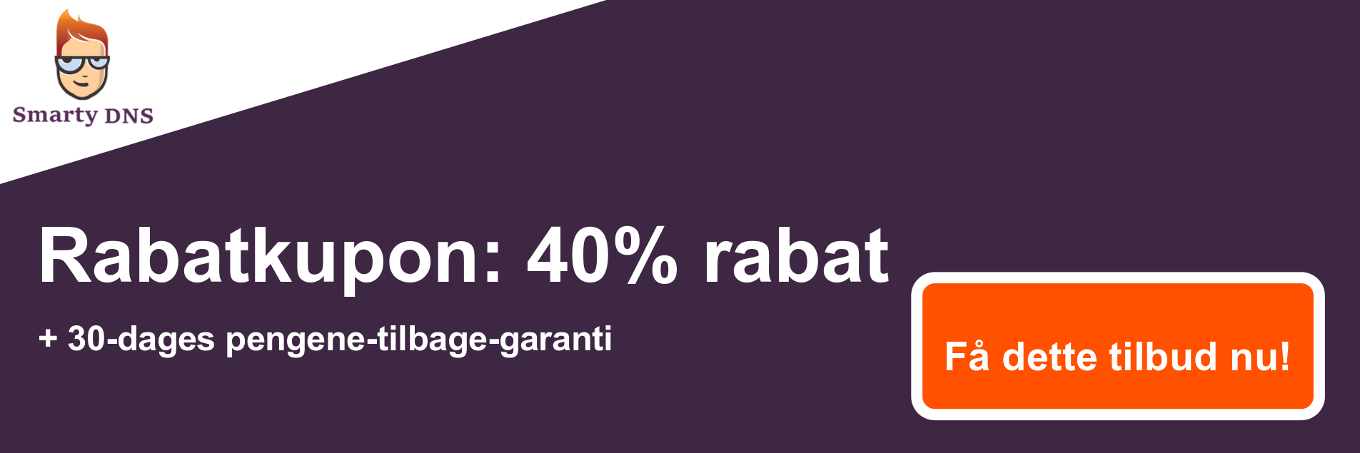 SmartyDNS kuponbanner - 40% rabat