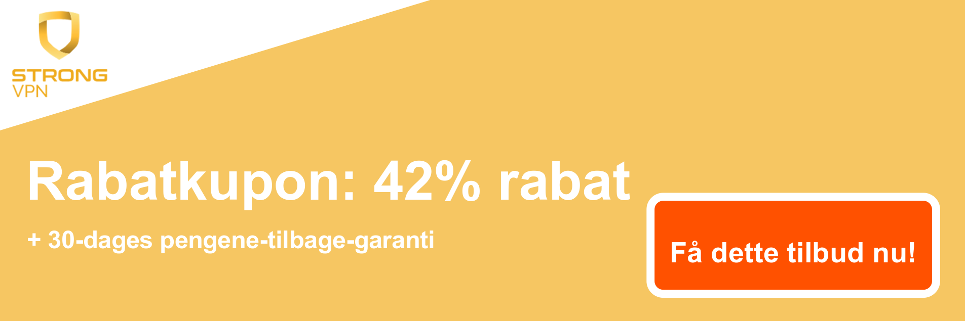 StrongVPN-kuponbanner - 42% rabat