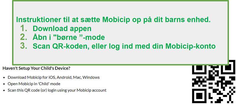 mobicip QR-kode