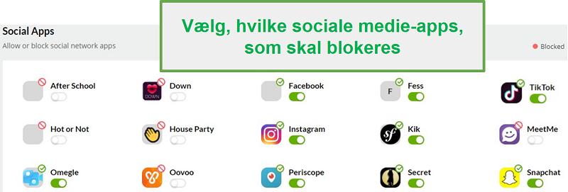 Mobicip overvågning af sociale medier