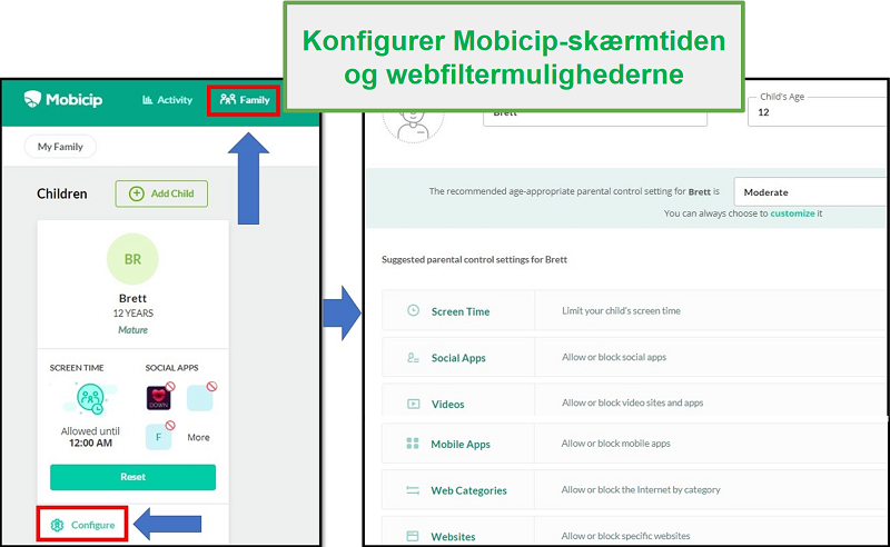 mobicip har oprettet et webfilter
