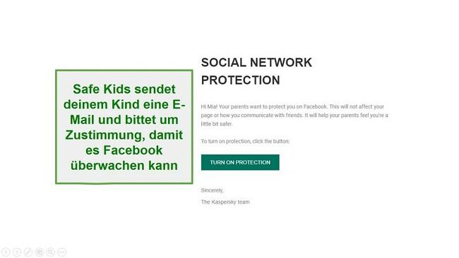Überwachung der sozialen Netzwerke von Safe Kids