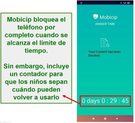 Mobicip bloquea un dispositivo