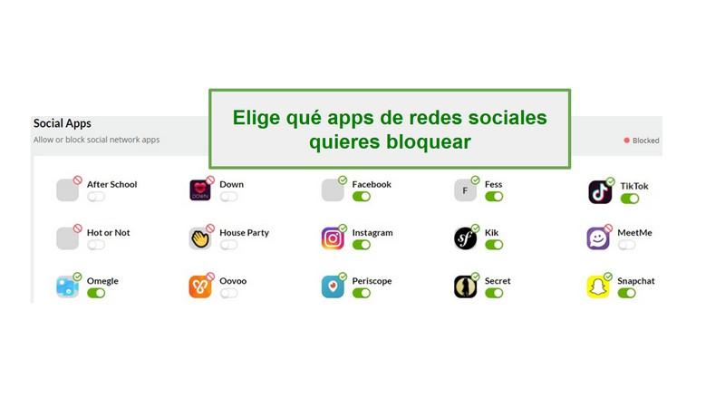 Monitoreo de redes sociales Mobicip