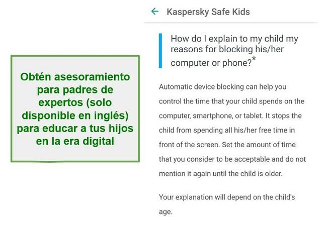 Consejos para padres de Safe Kids
