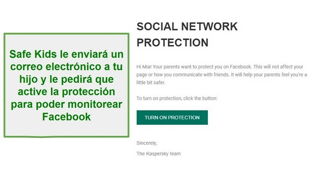 Monitoreo de la red social Safe Kids