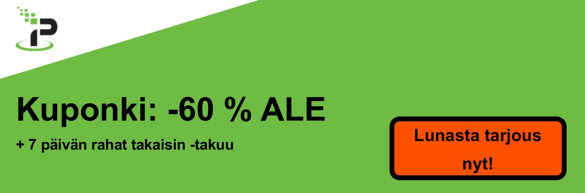 IPVanish-kuponki-banneri - 60% alennus