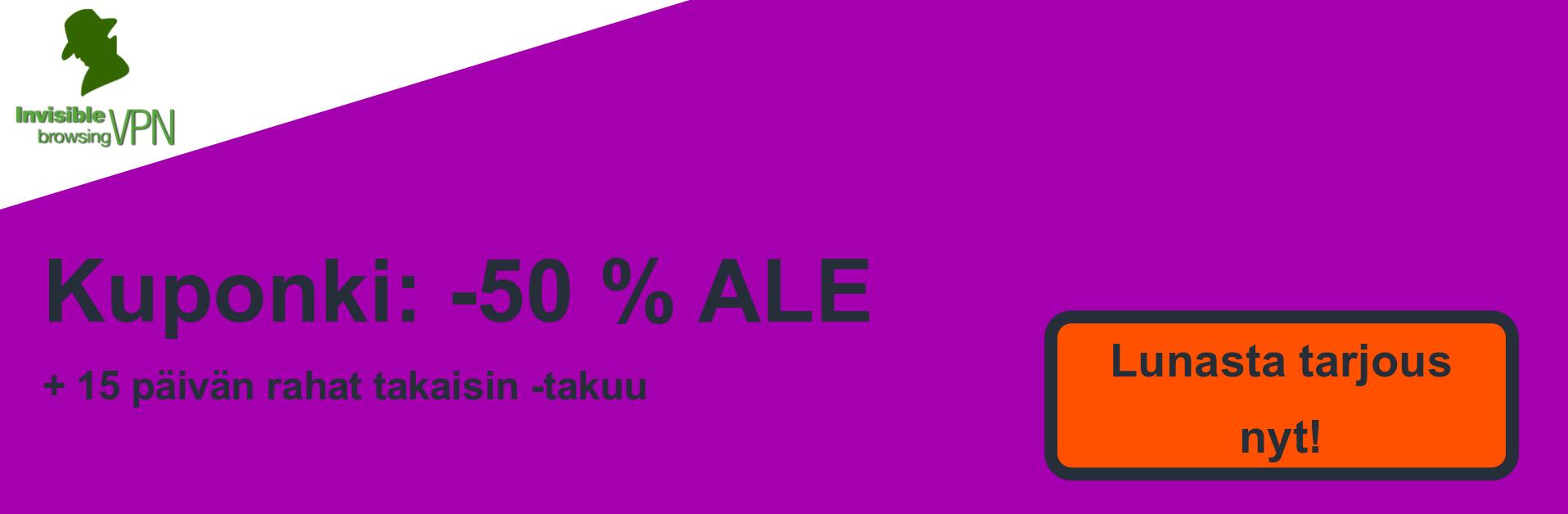 ibVPN-kuponki-banneri - 50% alennus