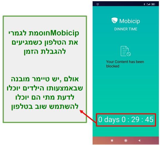 לוח זמנים של MobicipMobicip חוסם מכשיר